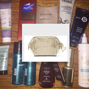 NEW! VS PYTHON BAG WITH VARIOUS HAIR CARE PRODUCTS